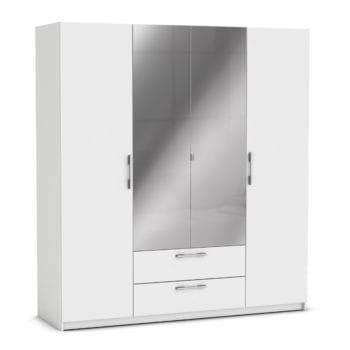 ארון ענק 4 דלתות כולל מראות ומגירות תוצרת צרפת דגם יופיטר