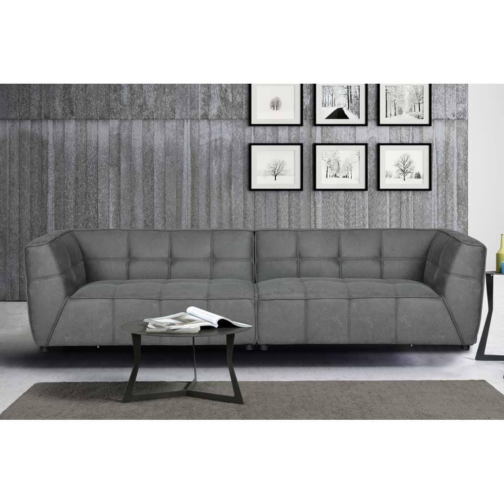 ספה רחבה מעוצבת אפור brenda-1000