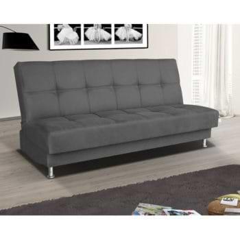 ספה מעוצבת נפתחת למיטה זוגית עם ארגז מצעים דגם מיכל
