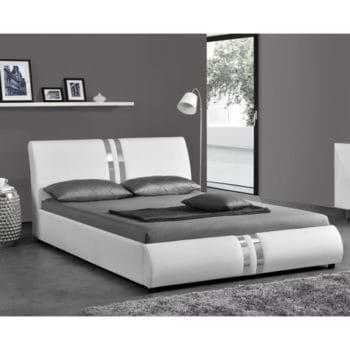 מיטה רחבה לנוער 120×190 בריפוד דמוי עור דגם גלי