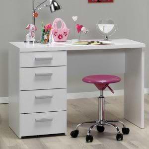 שולחן כתיבה לבן עם שידת מגירות תוצרת דנמרק דגם הדר