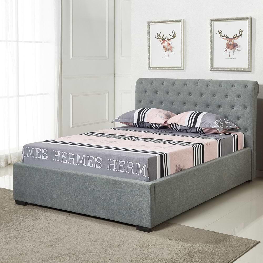 מיטה זוגית מעוצבת עם ריפוד kim-1000