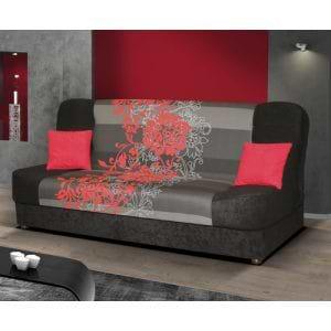 ספה אירופאית נפתחת למיטה רחבה עם ארגז מצעים דגם ליה