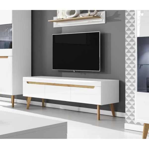 מזנון ושולחן מעוצבים לבן liat-1000c