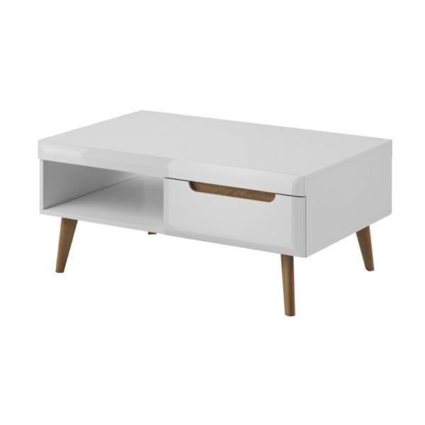 סט מזנון ושלוחן מעוצבים לבן liat-table-1000