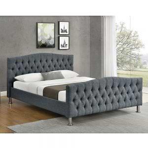 מיטה זוגית מעוצבת 160X200 בריפוד בד דגם לימור