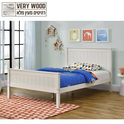 מיטה מעץ מלא הום דקור linor120 500a