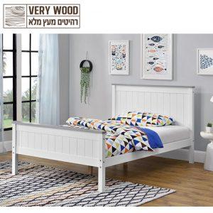 מיטה רחבה לנוער עשויה עץ מלא דגם ליטל 120
