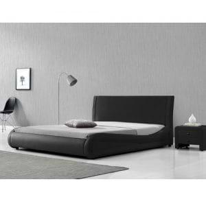 מיטה זוגית 160×200 מרופדת ומרשימה בעיצוב מעוגל דגם מנגו