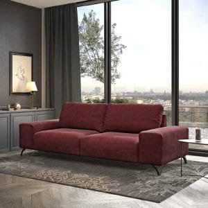 ספה רחבה יוקרתית מבד רחיץ עם רגלי מתכת תוצרת אירופה דגם מרטין