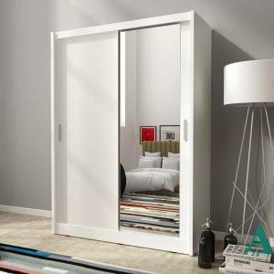 """ארון הזזה 130 ס""""מ עם דלת מראה תוצרת אירופה דגם מאיה"""