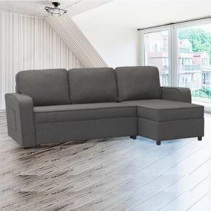 מערכת ישיבה פינתית מודולארית נפתחת למיטה עם ארגז מצעים מיילי