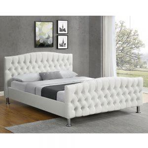 מיטה זוגית מעוצבת 160×200 בריפוד דמוי עור דגם מרי
