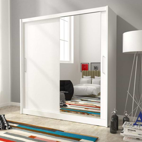 ארון הזזה עם דלת מראה meril-1000