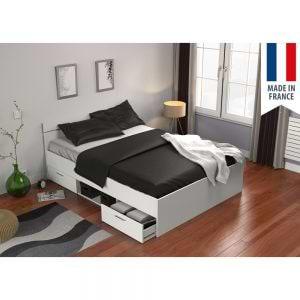 מיטה זוגית 140×190 עם מגירות ותא אחסון תוצרת צרפת דגם מישיגן