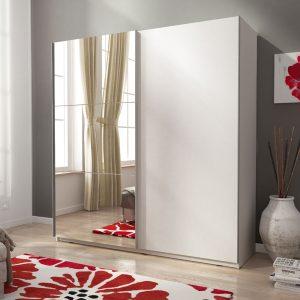 """ארון הזזה 150 ס""""מ עם דלת מראה וטריקה שקטה תוצרת אירופה דגם מיקי"""