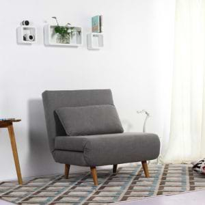 כורסא בריפוד בד נפתחת למיטה דגם ניקי