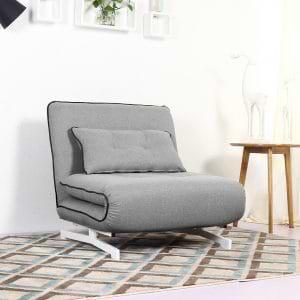 כורסא מעוצבת מרופדת בד ונפתחת למיטה דגם נובו