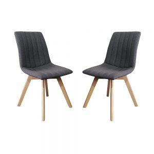 זוג כסאות לפינת אוכל עם רגלי עץ מלא דגם רועי