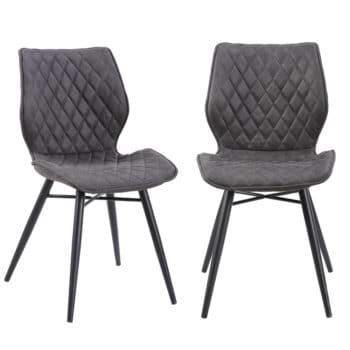 זוג כסאות לפינת אוכל עם רגלי מתכת דגם רונן – משלוח חינם!