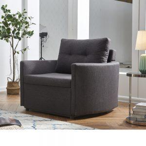 כורסא מעוצבת מרופדת בד ונפתחת למיטה דגם שגיא
