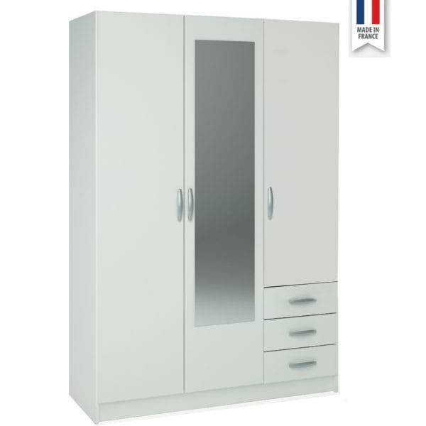 ארון 3 דלתות עם שידת מגירות חיצונית spot-1000a