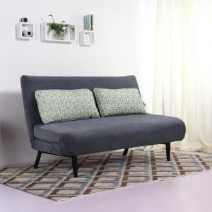 ספה מעוצבת מרופדת בד ונפתחת למיטה זוגית דגם ספרינג