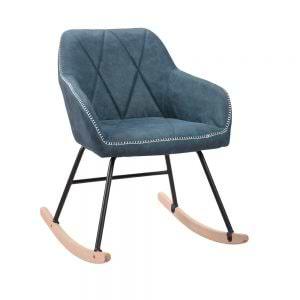 כורסא מעוצבת עם רגלי נדנדה דגם יניב