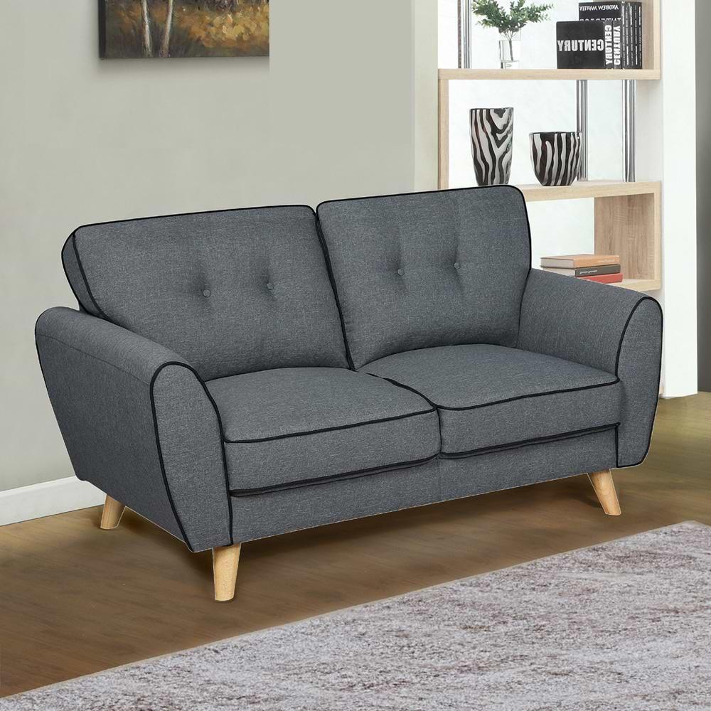 ספה תלת מושבית מעוצבת אפור nis-500c