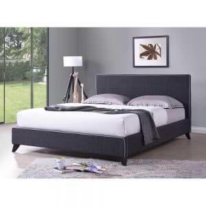 מיטה זוגית 160×200 מרופדת בד בעיצוב צעיר דגם עמית