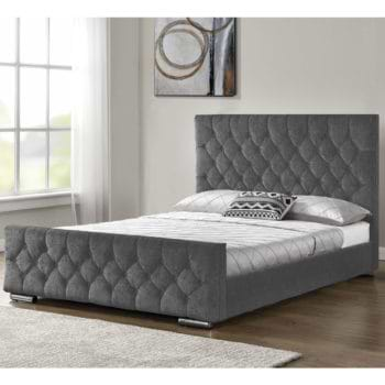 מיטה זוגית מעוצבת 160×200 בריפוד בד דגם דפנה
