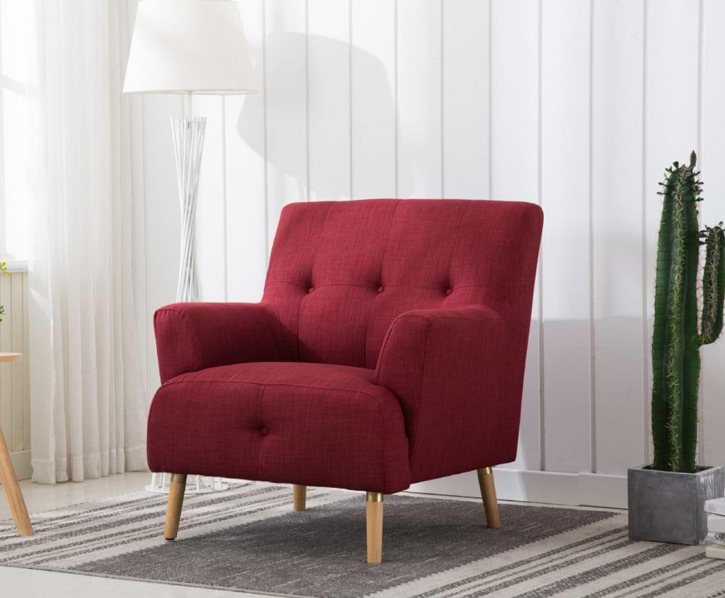 הום דקור כורסא מרופדת אדום daniel-1200i