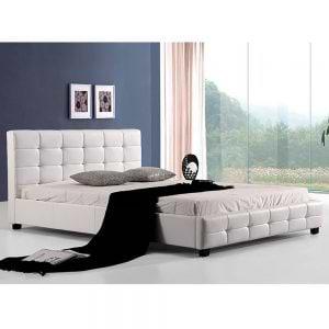מיטה רחבה לנוער מעוצבת 120×190 בריפוד דמוי עור דגם דינמיק 120