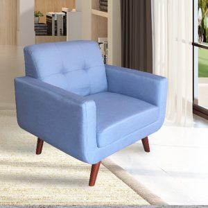 כורסא מעוצבת מבד בעיצוב רטרו דגם מוניק