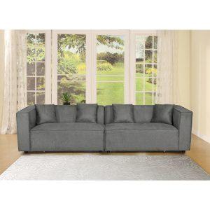 ספה רחבה 2.8 מ' מודרנית ומפנקת בעיצוב עשיר דגם ניקה