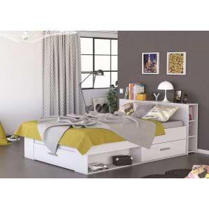 מיטה זוגית 140×200 עם שפע תאי אחסון תוצרת צרפת דגם פוקט