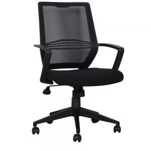 כיסא משרדי עם גב רשת וידיות דגם דרור