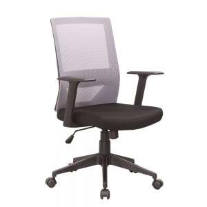 כיסא משרדי עם גב רשת וידיות דגם ברקן