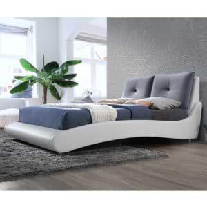 מיטה זוגית מרופדת 160×200 בעיצוב מעוגל דגם קורי
