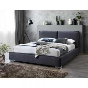 מיטה זוגית 160×200 מרופדת בד רחיץ דגם מדונה