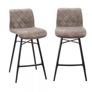 זוג כסאות בר עם רגלי מתכת דגם מתן