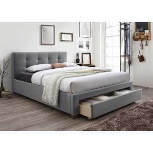 מיטה זוגית מרופדת 140×190 עם מגירת אחסון דגם סרינה
