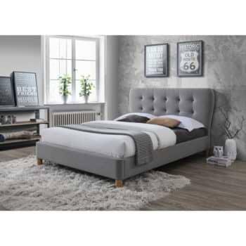 מיטת נוער רחבה 120×190 בריפוד בד ובעיצוב מרשים דגם טנגו