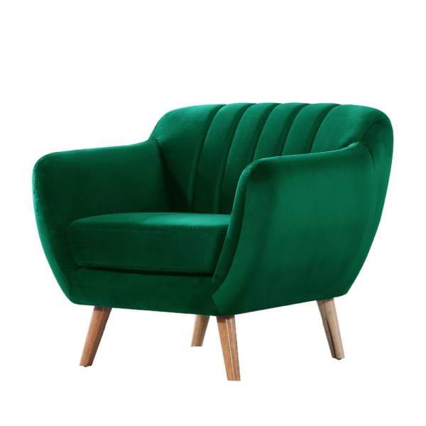 כורסא מעוצבת ירוקה green-1000c