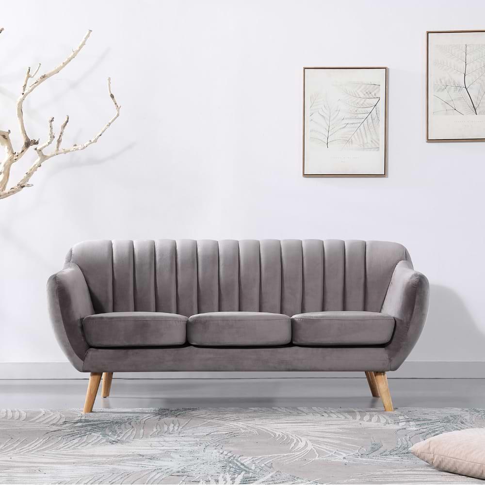 ספה מעוצבת אפורה lgrey-1000