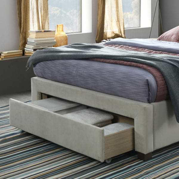 מיטה זוגית מעוצבת עם 3 מגירות אחסון topaz-10001000