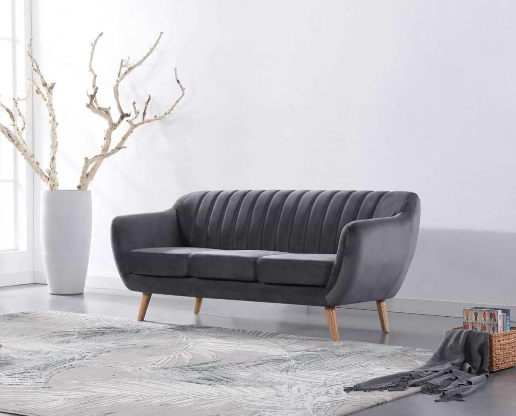 ספה בעיצוב רטרו עם ריפוד אפור dark-grey-1200c