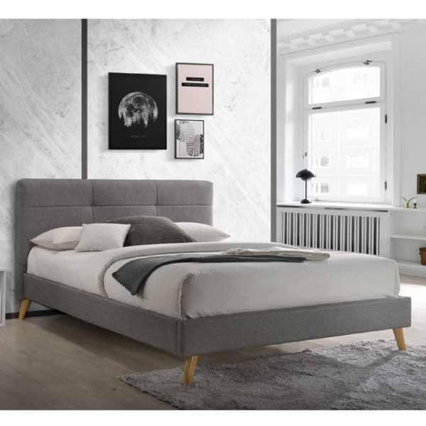 מיטת זוגית מעוצבת 180x200 בריפוד בד דגם טנסי