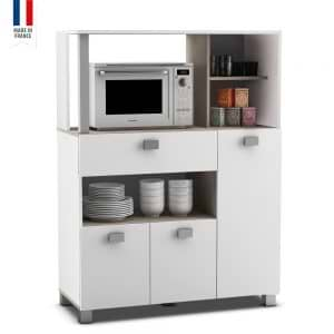 ארון שירות למטבח עם תא למיקרוגל תוצרת צרפת דגם בזיליק