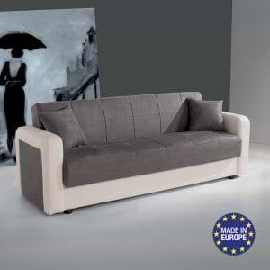 ספה אירופאית נפתחת למיטה רחבה עם ארגז מצעים דגם קליק